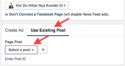 Marknadsför inlägg Facebook