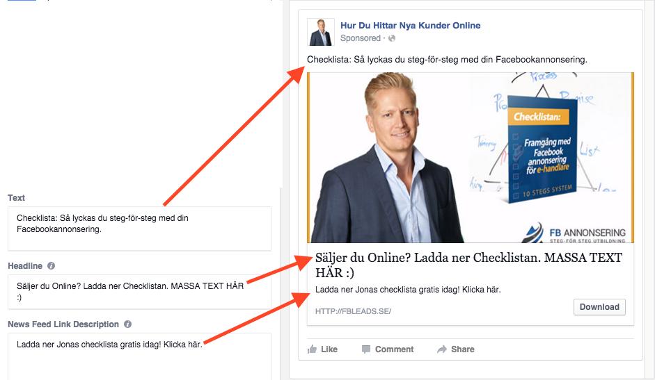 Facebook annons