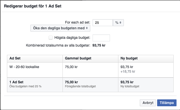 facebook-annonsering-budget