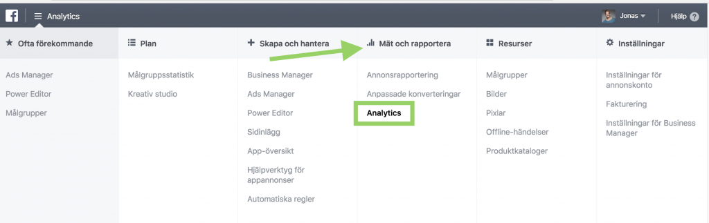 Facebook Analytics i Ads Manager