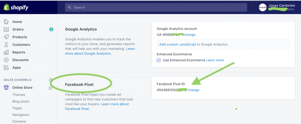 Facebook Pixel i Shopify